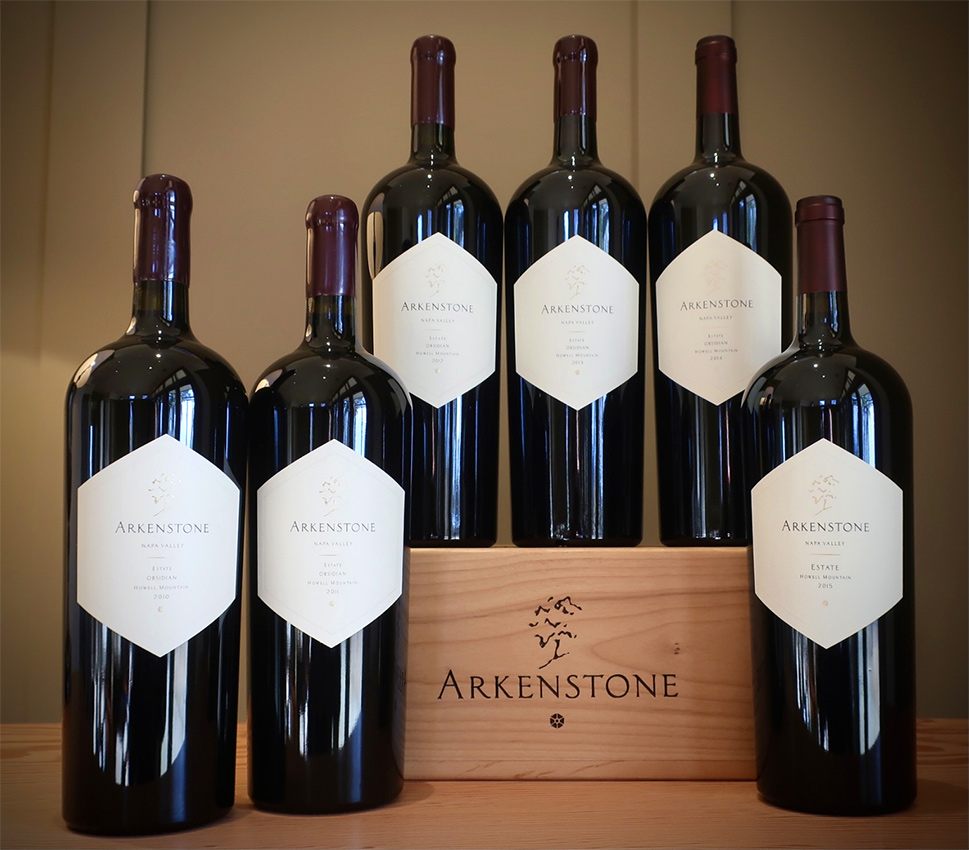Arkenstone Wines offered at the Napa Valley Library Wine Auction