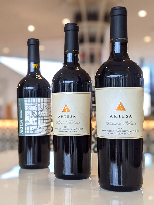 Artesa Wines offered at the Napa Valley Library Wine Auction